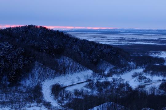 新夢が丘の夕暮れ