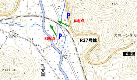 小幌-礼文 地図