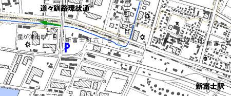 新富士跨線橋 地図